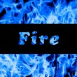 Closeup of blue fire flames — Stock Photo