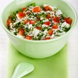 Stock Photo: Bowl of curd with tomato and parsley
