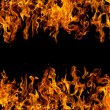 Stock Photo: Frame of fire flames