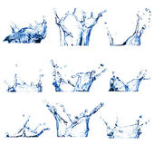 Set of nine water splashes — Stock Photo