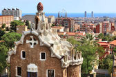 Buildings at the entrance of the Parc Guell. — Stock Photo