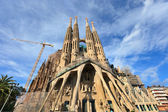 Sagrada Familia - Roman Catholic basilica in Barcelona. — Stock Photo