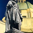 Stock Photo: Charles IV statue at night. Prague.