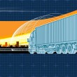 Vector logistics theme background - Image vectorielle
