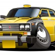 Vector cartoon taxi - Stock Vector