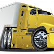 Vector cartoon cargo semi-truck — Image vectorielle