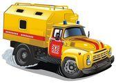 Vektör karikatür onarım kamyon — Stok Vektör