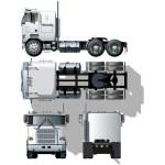 Vector hi-detailed semi-truck — Stock Vector