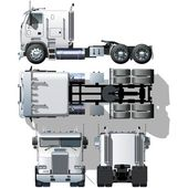 Vector hi-detailed semi-truck — Stockvector