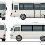 Vector urban mini-bus — Stock Vector #5102947