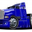 Royalty-Free Stock Vektorgrafik: Vector cartoon semi truck