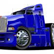 Vector cartoon semi truck — Stockvectorbeeld