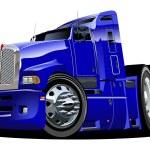 Vector cartoon semi truck — Stock Vector
