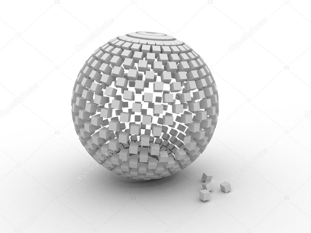3D cube, which are gray in color — Stock Photo #4476438
