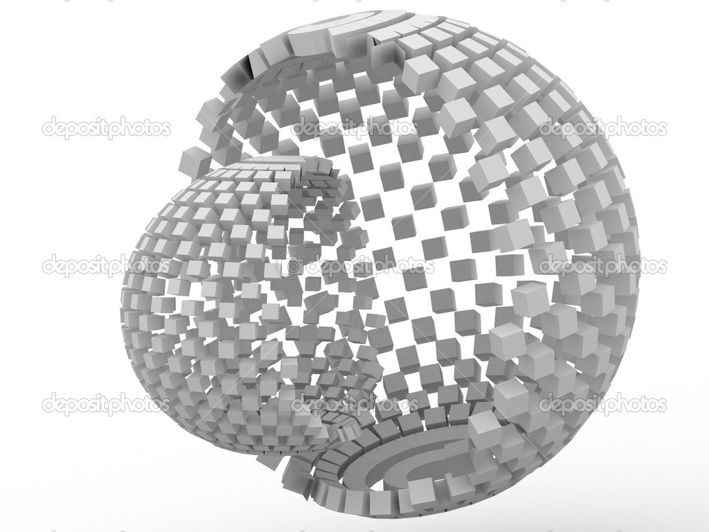 3D cube, which are gray in color  Stock Photo #4476441