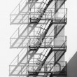 Ladder of shadows - Stock Photo
