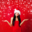Royalty-Free Stock Photo: Girl dressed as Santa