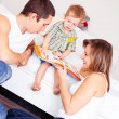 Happy family at home — Stock Photo #4380205