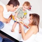 Happy family at home — Stock Photo #4380205