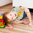 Baby with a toy — Stock Photo