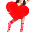 Girl with a heart — Stock Photo #4456551