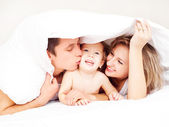 Happy family — Stock fotografie
