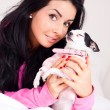 Girl with a dog — Stock Photo #4509523