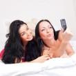 Friends take a picture — Stock Photo