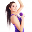 Girl with dumbbells — Stock Photo #4540633