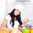 Girl cooking — Stock Photo #4544216