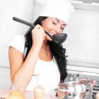 Girl cooking — Stock Photo #4544224
