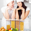 Two cooks — Stock Photo