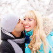 Happy kissing couple — Stock Photo #4628319