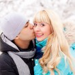 Happy kissing couple — Stock Photo
