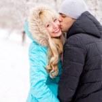 Happy kissing couple — Stock Photo #4628360