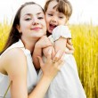 Happy mother and daughter - Stockfoto