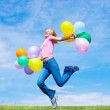 Woman with balloons — Stock Photo #4794589