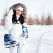 Girl going to ice skate — Stock Photo #4802644