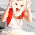 Woman baking — Stock Photo