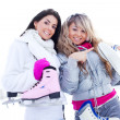 Two girls ice skating — Stock Photo #4980569