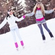 Girls ice skating — Stock Photo #5039859