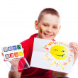 Stock Photo: Boy with picture