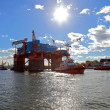 Stock Photo: Towing platform in port