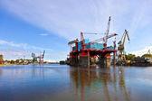 Platform in the shipyard — Stock Photo
