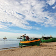 Fishing boat in Orlowo — Stock Photo