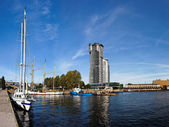 Port in Gdynia, Poland. — Stock Photo