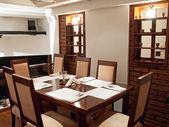 Restaurant tabel — Stockfoto
