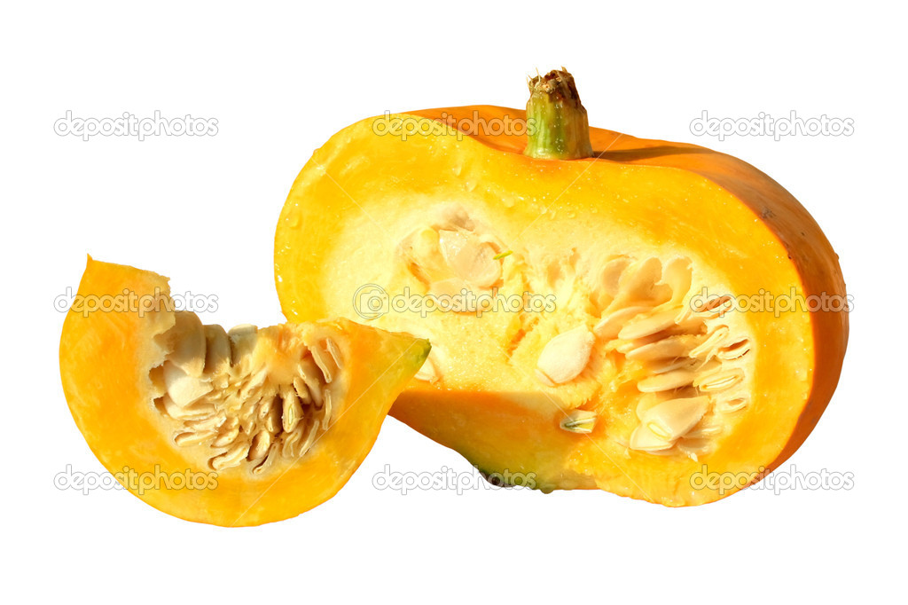 Appetizing pumpkin isolated on a white background — Stock Photo #4226568