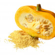 Pumpkin and millet — Stock Photo