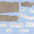 Fragmentary strips of a paper and cardboard — Stock Photo